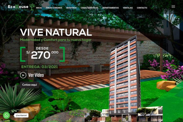 Landing Page Ecohouse – Urbalima