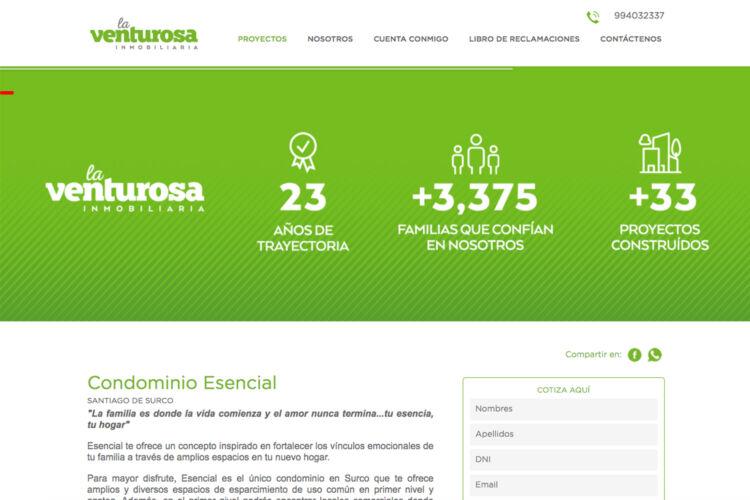 Landing Page Escencial – La Venturosa