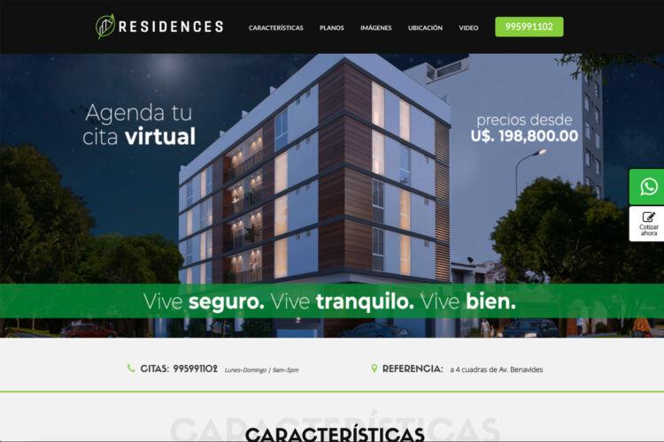 Landing Page Residences – Trazo