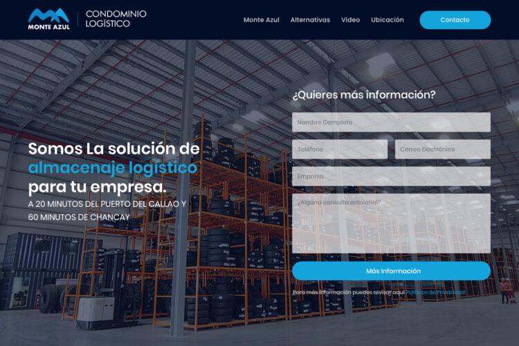 Landing Page Condominio Logístico Monteazul